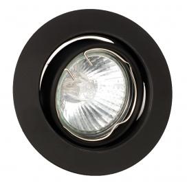InLight Χωνευτό Στρογγυλό Φωτιστικό Κινητό GU10 Μαύρο (43277)