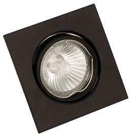 InLight Χωνευτό Τετράγωνο Φωτιστικό Κινητό GU10 Μαύρο (43278)