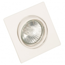 InLight Χωνευτό Τετράγωνο Φωτιστικό Κινητό GU10 Λευκό (43278)