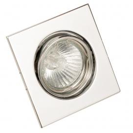 InLight Χωνευτό Τετράγωνο Φωτιστικό Κινητό GU10 Νίκελ Ματ (43278)
