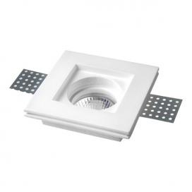 Spotlight Χωνευτό Τετράγωνο Γύψινο Φωτιστικό GU10 Λευκό (5631)