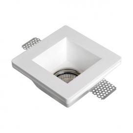 Spotlight Χωνευτό Τετράγωνο Γύψινο Φωτιστικό GU10 Λευκό (5629)