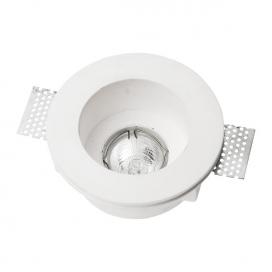 Spotlight Χωνευτό Στρογγυλό Γύψινο Φωτιστικό GU10 Λευκό (5632)