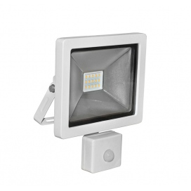 LED SMD Λευκός προβολέας αλουμινίου με αισθητήρα κίνησης 10W 120° 4000K (3-31001)