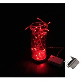 Γυάλινο Βάζο Με 32 Led Κόκκινα (30-9366312)