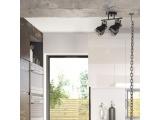 Aca Δίφωτο Φωτιστικό Οροφής - Τοίχου Μαύρο - Λευκό (EG169902CB)