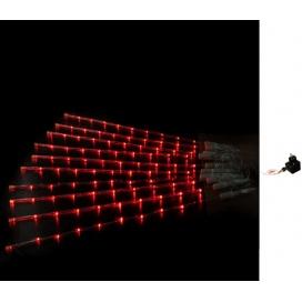 10 Φωτιζόμενα Διάφανα Κοντάρια με 8Led Κόκκινα (30-9677532)