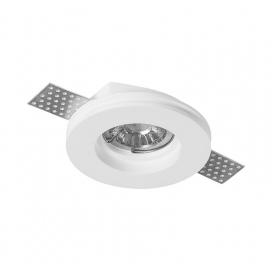 Adeleq Χωνευτό Στρογγυλό Γύψινο Φωτιστικό GU10 Λευκό (21-11001)