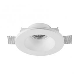 Adeleq Χωνευτό Στρογγυλό Γύψινο Φωτιστικό GU10 Λευκό (21-11003)