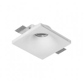 Adeleq Χωνευτό Τετράγωνο Γύψινο Φωτιστικό GU10 Λευκό (21-11005)
