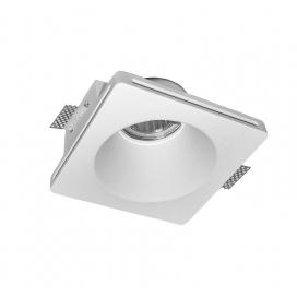 Adeleq Χωνευτό Τετράγωνο Γύψινο Φωτιστικό GU10 Λευκό (21-11006)