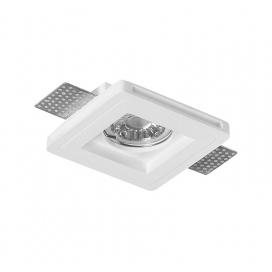 Adeleq Χωνευτό Τετράγωνο Γύψινο Φωτιστικό GU10 Λευκό (21-11007)