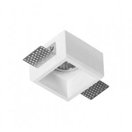 Adeleq Χωνευτό Τετράγωνο Γύψινο Φωτιστικό GU10 Λευκό (21-11008)