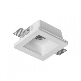Adeleq Χωνευτό Τετράγωνο Γύψινο Φωτιστικό GU10 Λευκό (21-11009)
