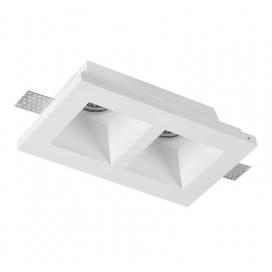 Adeleq Χωνευτό Γύψινο Φωτιστικό 2xGU10 Λευκό (21-11012)