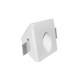 Adeleq Χωνευτό Τετράγωνο Γύψινο Φωτιστικό GU10-MR11 Λευκό (21-11020)