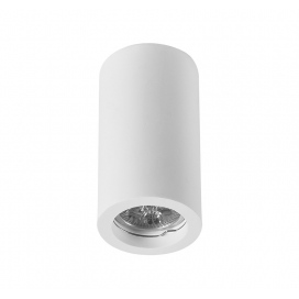 Adeleq Γύψινο Κιλυνδρικό Σποτ Οροφής GU10 Λευκό (21-11014)