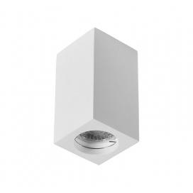 Adeleq Γύψινο Κύβος Σποτ Οροφής GU10 Λευκό (21-11015)
