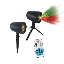 Aca Χριστουγεννιάτικος Προβολέας Laser Κόκκινης & Πράσινης Δέσμης (NOEL)