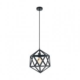 Eglo Embleton Industrial Μονόφωτο Φωτιστικό Μαύρο Ø305 (49761)