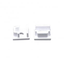 Σετ πλαστικές τάπες 2 τεμ. με & χωρίς τρύπα για προφίλ P108 (EP108)