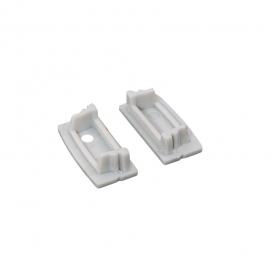 Σετ πλαστικές τάπες 2 τεμ. με & χωρίς τρύπα για προφίλ P117 (EP117)