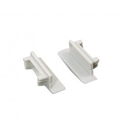 Σετ πλαστικές τάπες 2 τεμ. με & χωρίς τρύπα για προφίλ P119 (EP119)