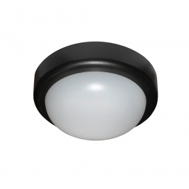 Adeleq Φωτιστικό Οροφής 10W 4000K Μαύρο (21-0051011)