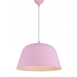 Zambelis Lights Μονόφωτο Κρεμαστό Φωτιστικό Ροζ (180076)