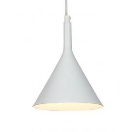 Zambelis Lights Led Μονόφωτο Κρεμαστό Φωτιστικό Λευκό (16150-W)