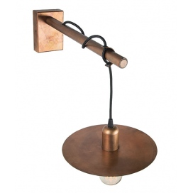 Zambelis Lights Επιτοίχιο Φωτιστικό Σκουριασμένο Χαλκό (16120)