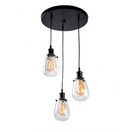 Zambelis Lights Τρίφωτο Κρεμαστό Φωτιστικό Μαύρο (16110)