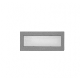 Adeleq Επιτοίχιο Φωτιστικό 0.6W Μπλε Γκρι (3-973664)