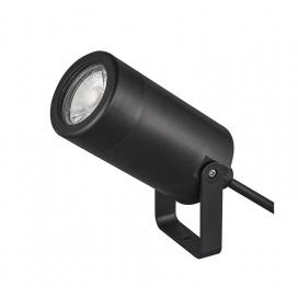 Στεγανό Πλαστικό Φωτιστικό Σποτ GU10 Μαύρο (3-1601101)