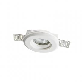 Aca Erin Χωνευτό Στρογγυλό Γύψινο Φωτιστικό GU10 Λευκό (G90051C)