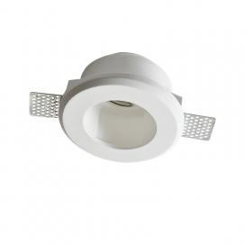 Aca Zoe Χωνευτό Στρογγυλό Γύψινο Φωτιστικό GU10 Λευκό (G90021C)