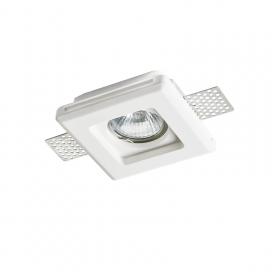 Aca Erin Χωνευτό Τετράγωνο Γύψινο Φωτιστικό GU10 Λευκό (G90041C)