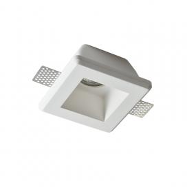 Aca Zoe Χωνευτό Τετράγωνο Γύψινο Φωτιστικό GU10 Λευκό (G90011C)