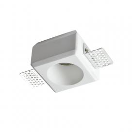 Aca Josie Χωνευτό Τετράγωνο Γύψινο Φωτιστικό GU10 Λευκό (G90271C)