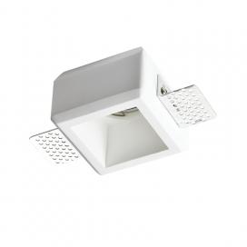 Aca Josie Χωνευτό Τετράγωνο Γύψινο Φωτιστικό GU10 Λευκό (G90281C)