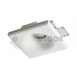 Aca Rory Χωνευτό Τετράγωνο Γύψινο Φωτιστικό GU10 Λευκό(G90031C)