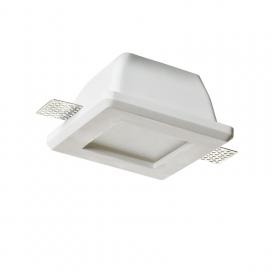 Aca Rory Χωνευτό Τετράγωνο Γύψινο Φωτιστικό GU10 Λευκό(G9001GC)