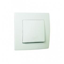 Makel Lillium Διακόπτης Απλός Λευκός (32001101)