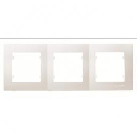 Makel Lillium Οριζόντιο Πλαίσιο 3 Θέσεων Λευκό (32001703)