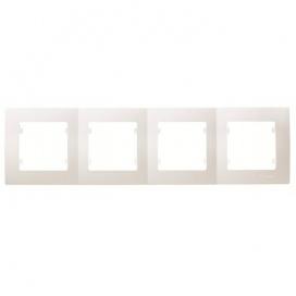 Makel Lillium Οριζόντιο Πλαίσιο 4 Θέσεων Λευκό (32001704)