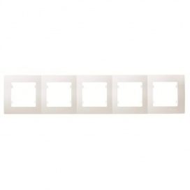 Makel Lillium Οριζόντιο Πλαίσιο 5 Θέσεων Λευκό (32001705)