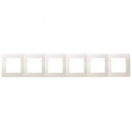 Makel Lillium Οριζόντιο Πλαίσιο 6 Θέσεων Λευκό (32001706)