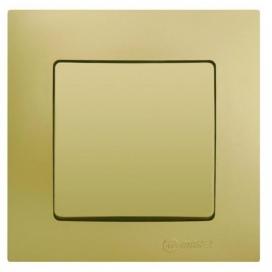 Makel Lillium Διακόπτης Απλός Χρυσό Ματ (32057101)