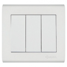 Makel Manolya Διακόπτης Τριπλός Λευκός (41001091)
