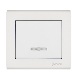 Makel Manolya Διακόπτης Μπουτόν με Φως Λευκός (41001124)